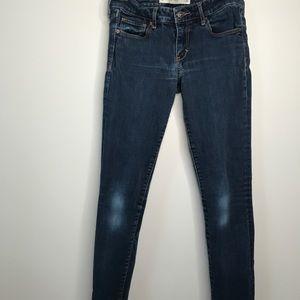 A&F Super Skinny Mid Rise Women's Jeans Denim Pant